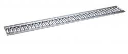 Решетка 100 стальная штампованная (с отверстиями)