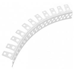 Профиль д/гипсокарт.угловой/защит.перф арочный ПВХ 25х25х3,0м