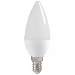 Лампа светодиодная Е14  7Вт LED свеча белый мат. ECO iEK