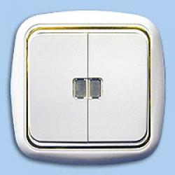 Выкл. 2CП С510-207 подсв. Гармония-Люкс