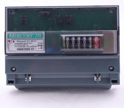 Счетчик Меркурий 231 АМ-01 3-х фаз. однотарифный, 5(60), кл. точ. 1.0, ЭМОУ, имп. выход