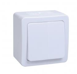 Выкл. 1кл. ОП IP54Гермес Plus (белый) IEK
