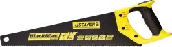 Ножовка по дер. 450мм STAYER Black 7TPI, тефлон покр.,для ср. заготовок, фанера, ДСП,МДФ