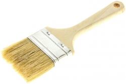 Кисть пл. утолщённая( 100мм) натур. светлая щетина, дерев. ручка Т4Р 0101805
