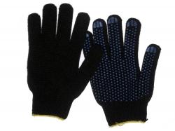Перчатки х/б с ПВХ 4 нит. 10класс черные