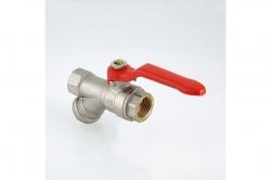 Кран с фильтром 1/2 шаровой VT.292 ручка