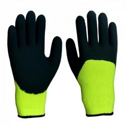 Перчатки ЗИМНИЕ с нитрил. обливом (ХБ с ПВХ) Оранжево - черн.