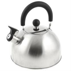 Чайник  нерж. 3л. со свистком , черн.пластм.ручка Красный MSY -021R