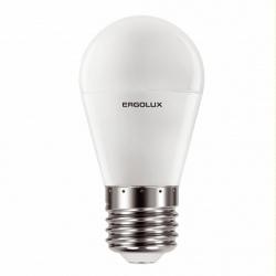 Лампа светодиодная Е14  7Вт 60Вт шар тепл. 3000К Ergolux