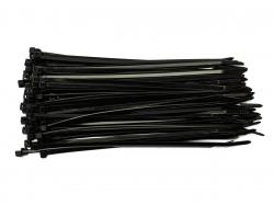 Хомут нейлон. 2,5х200мм черный (100)