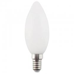 Лампа светодиодная Е14  5Вт LED свеча белый мат. ECO iEK