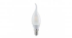 Лампа светодиодная Е14  5Вт LED свеча на ветру тепло-белый мат. ECO iEK