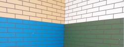 Цоколь ЦСП 12мм 1,125х0,622 кирпич в разбежку Серо-голубой (Ферро35)